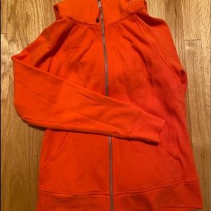 New Bright Orange 🍊 Lululemon Scuba Hoodie Sz 12